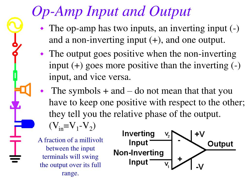 Op-Amp Input and Output