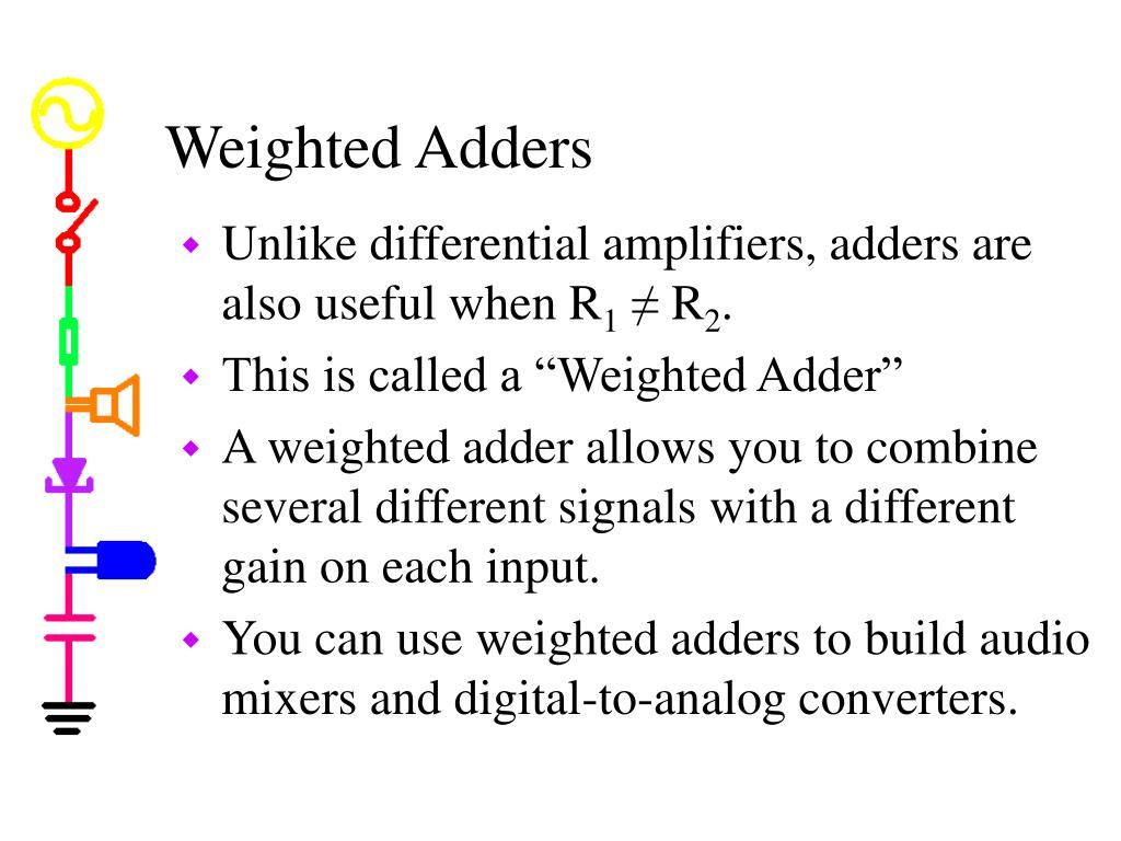 Weighted Adders