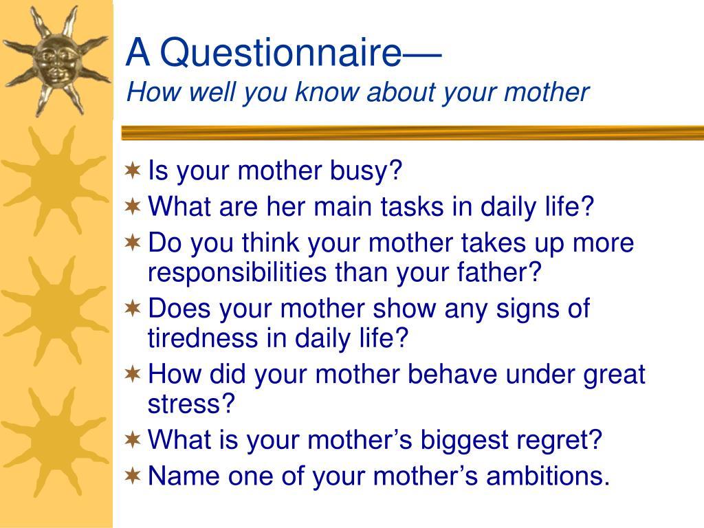 A Questionnaire—