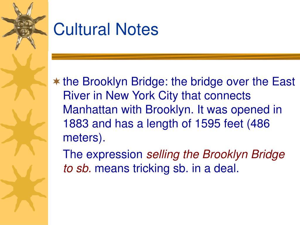 Cultural Notes