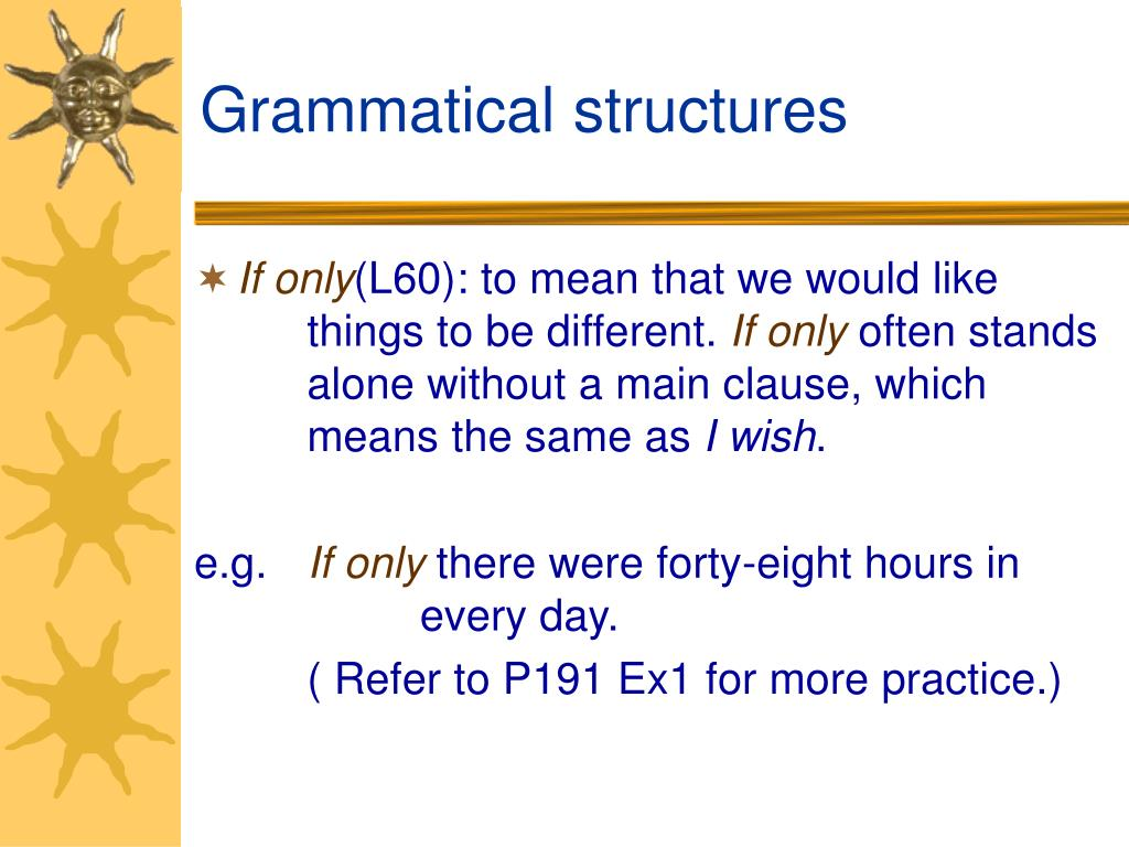 Grammatical structures