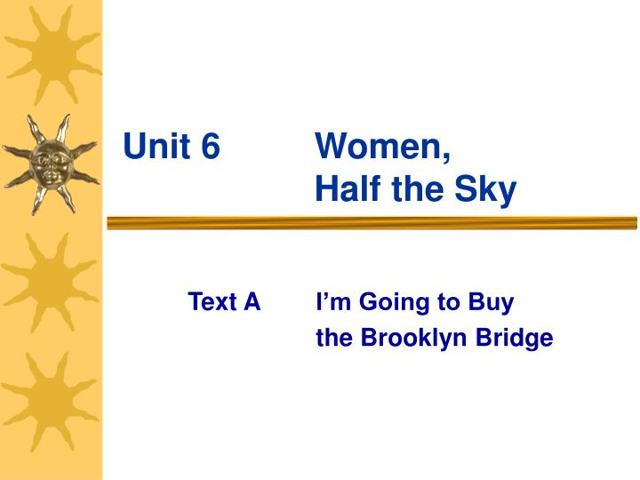 Unit 6 women half the sky