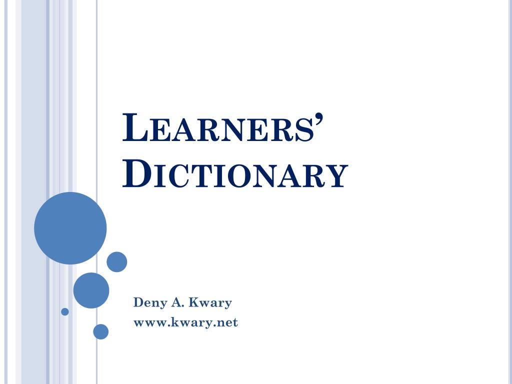 Learners' Dictionary