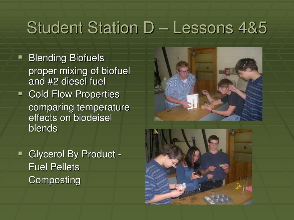 Student Station D – Lessons 4&5