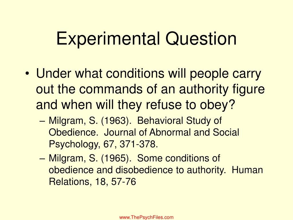 Experimental Question