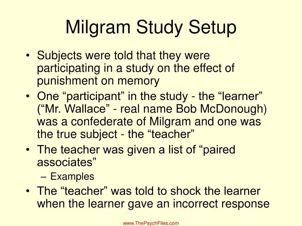 Milgram Study Setup