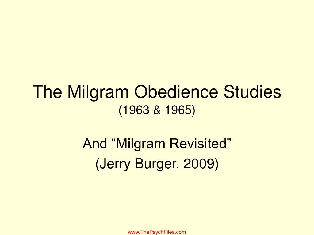 The Milgram Obedience Studies