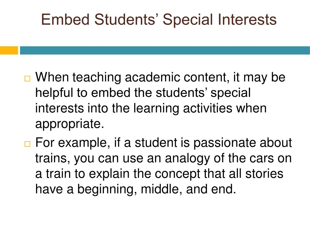 Embed Students' Special Interests