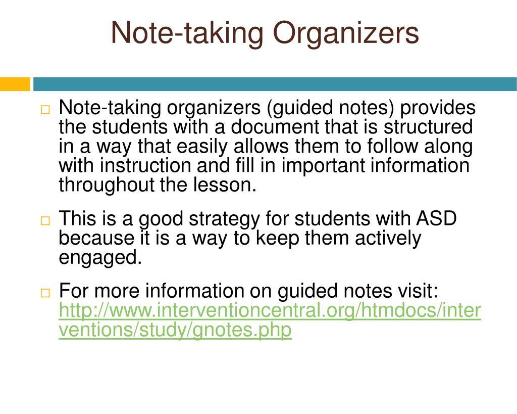 Note-taking Organizers