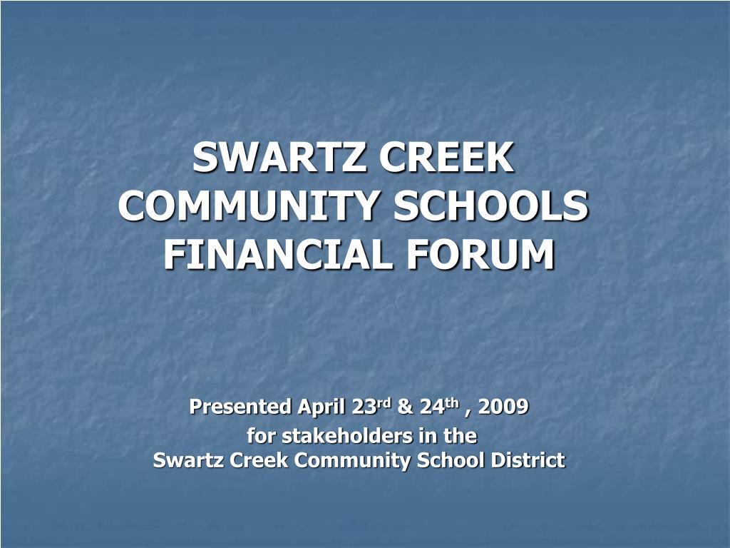 SWARTZ CREEK COMMUNITY SCHOOLS
