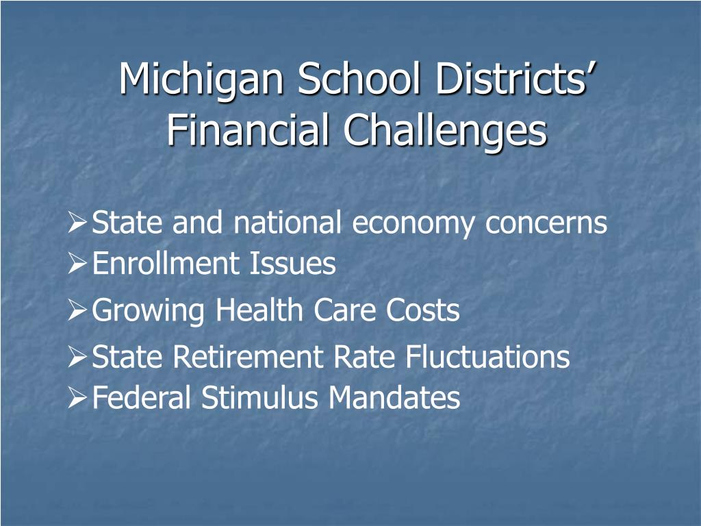 Michigan School Districts' Financial Challenges