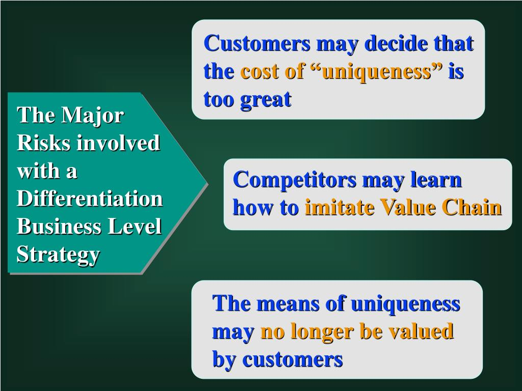 Customers may decide that the