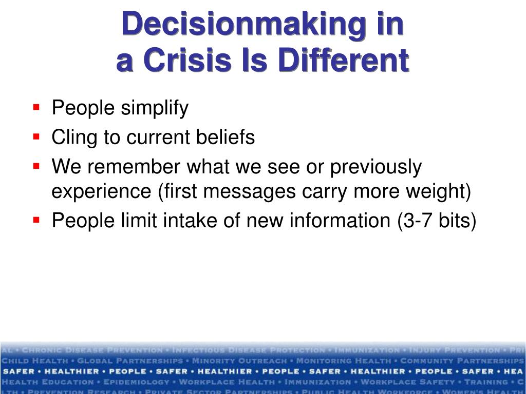 Decisionmaking in