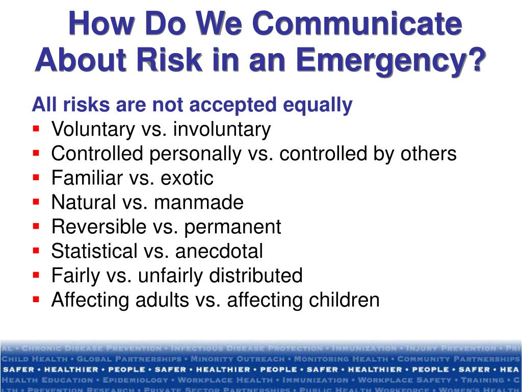 How Do We Communicate About Risk in an Emergency?