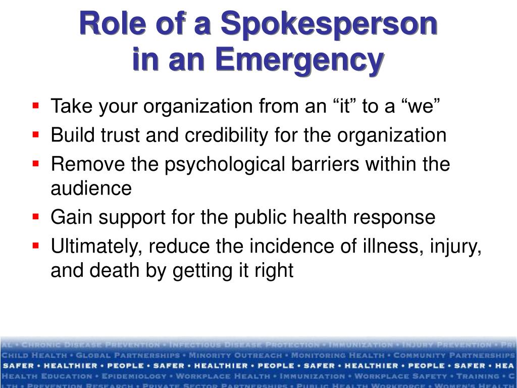 Role of a Spokesperson