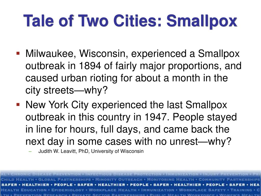 Tale of Two Cities: Smallpox