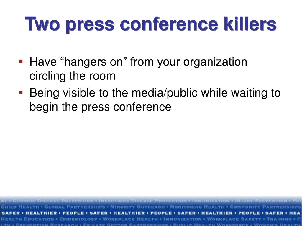 Two press conference killers
