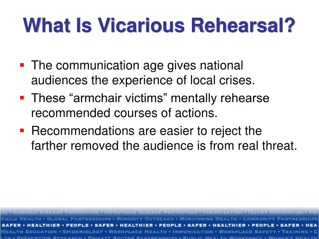 What Is Vicarious Rehearsal?