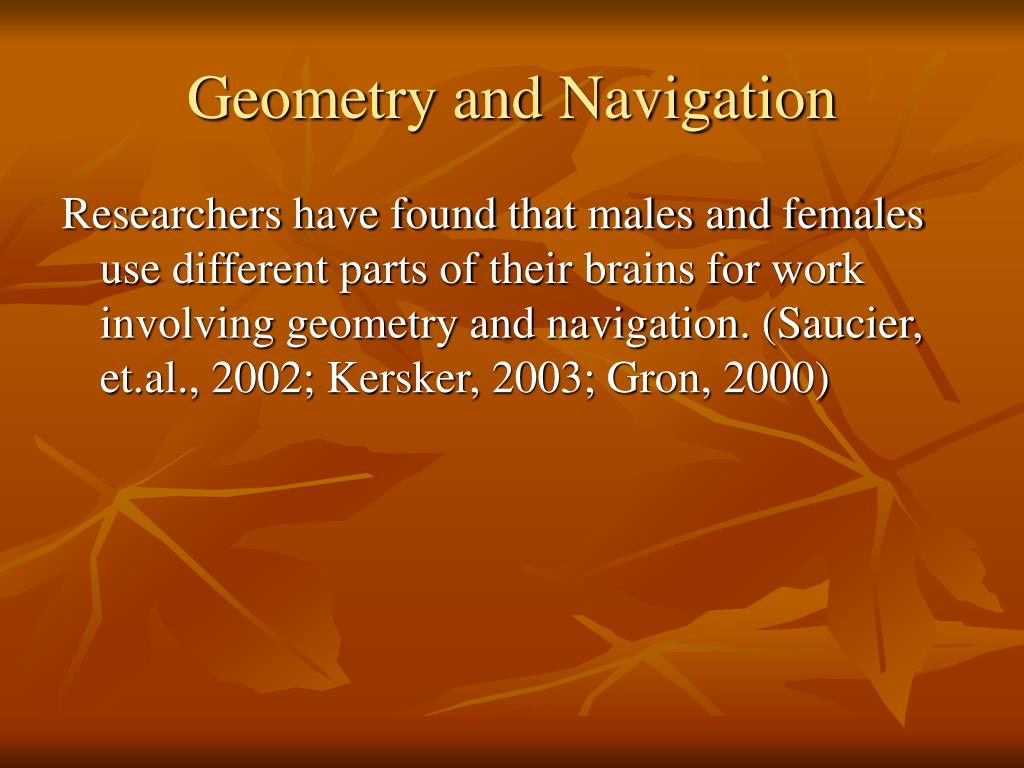 Geometry and Navigation