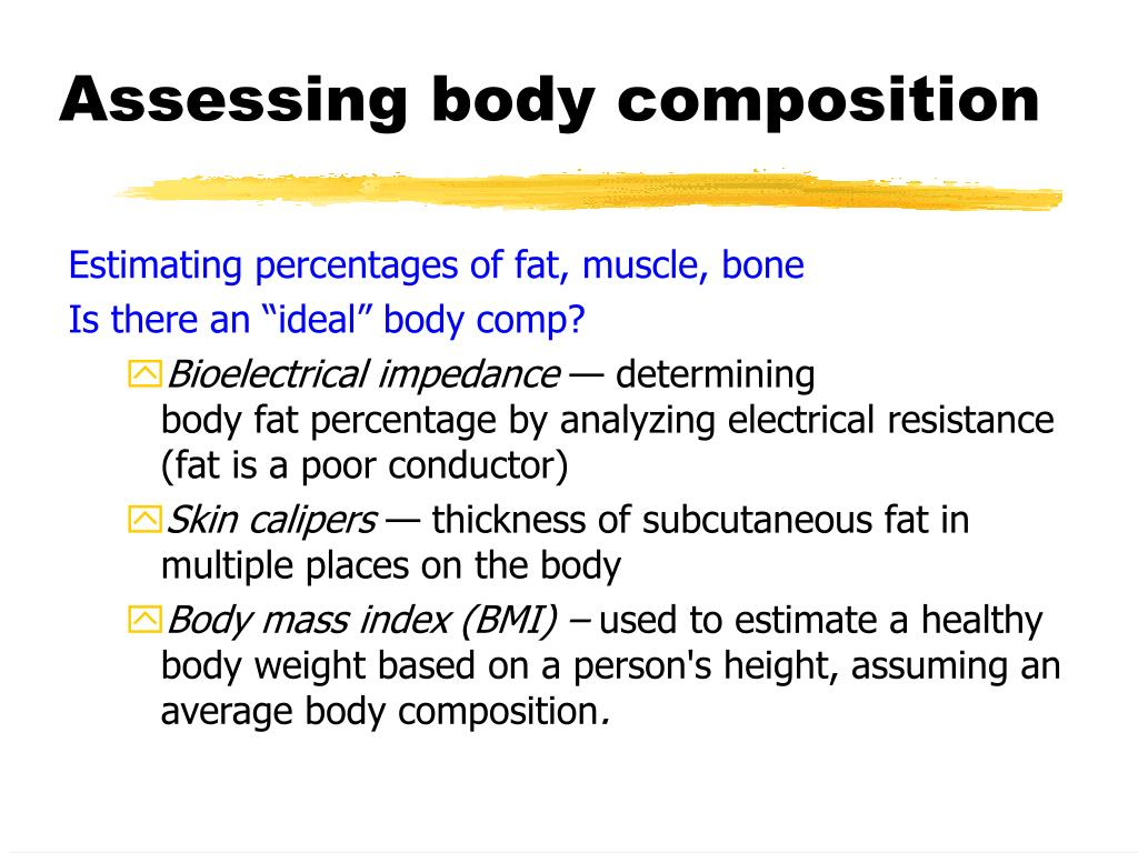 Assessing body composition