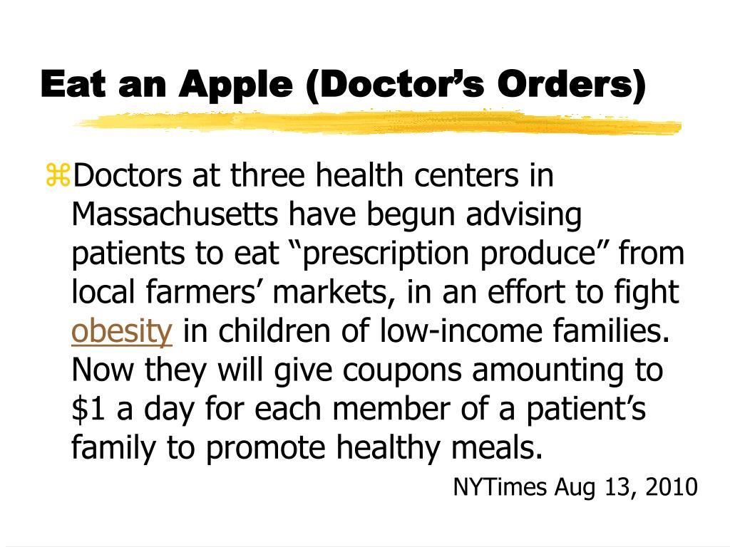 Eat an Apple (Doctor's Orders)