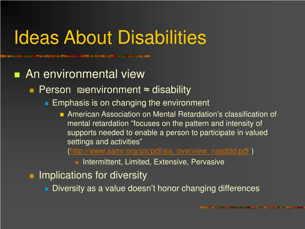 Ideas About Disabilities