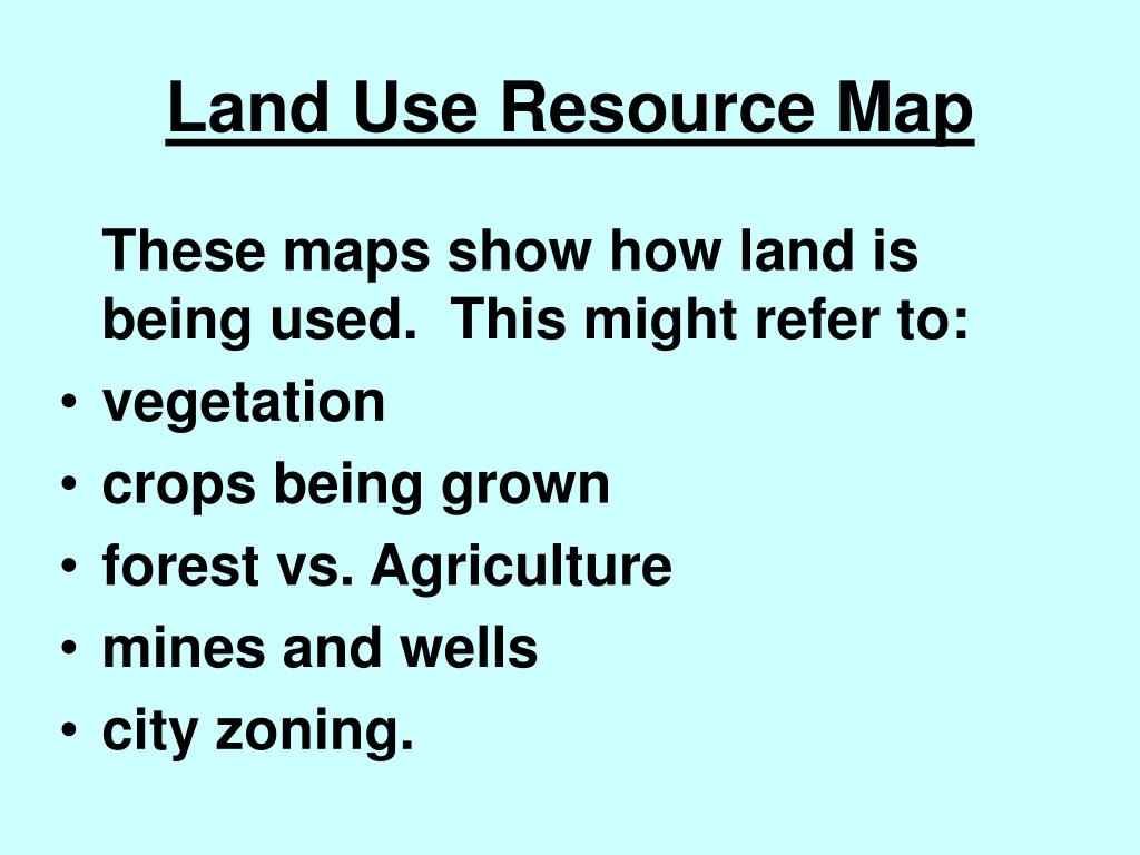 Land Use Resource Map