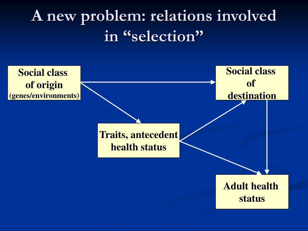 "A new problem: relations involved in ""selection"""