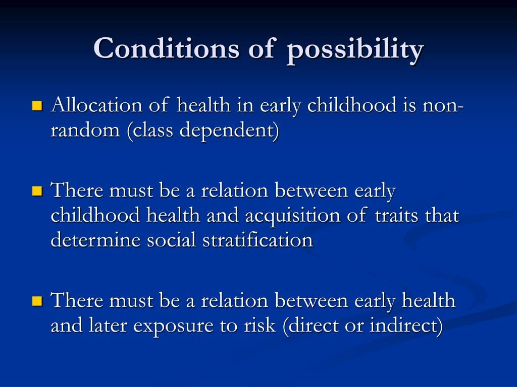 Conditions of possibility