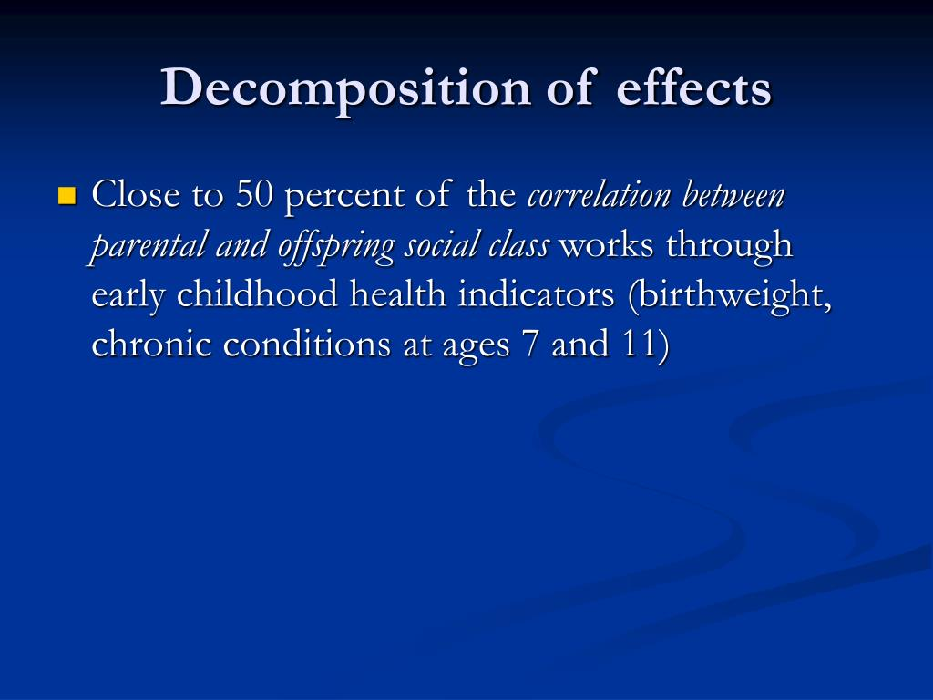 Decomposition of effects