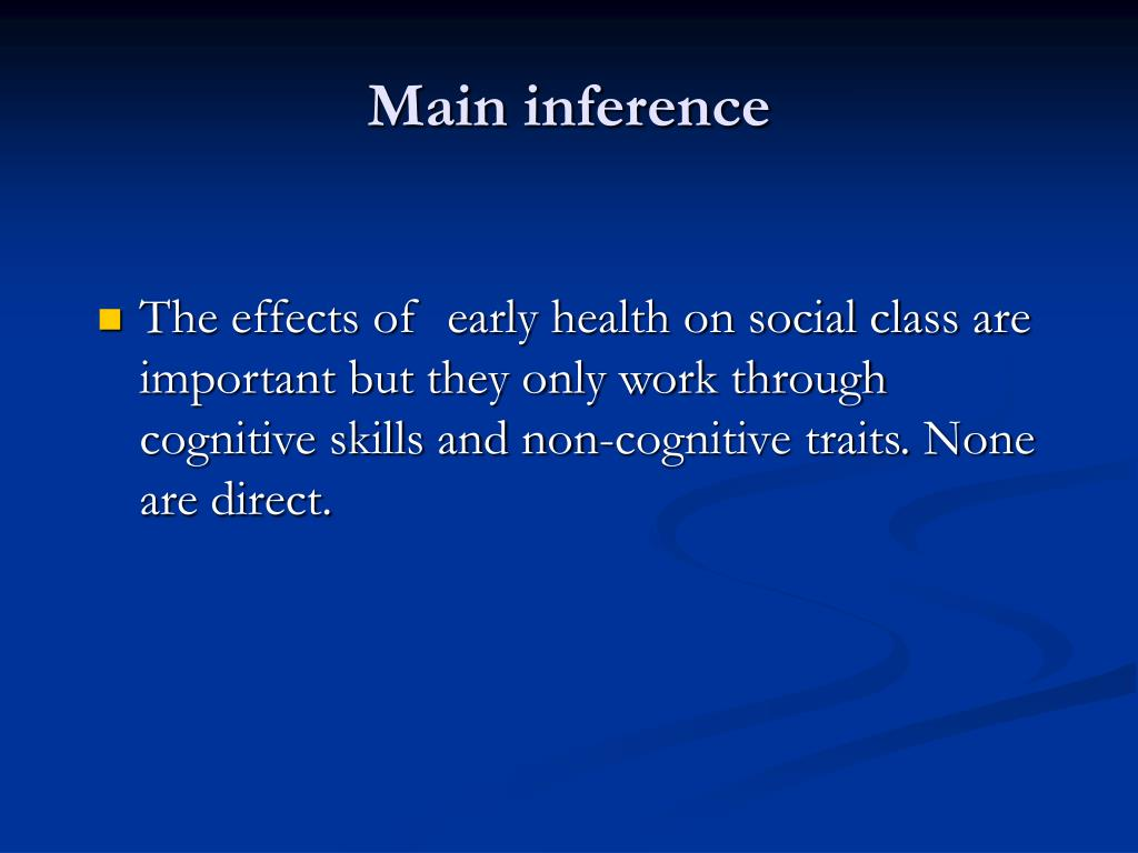 Main inference