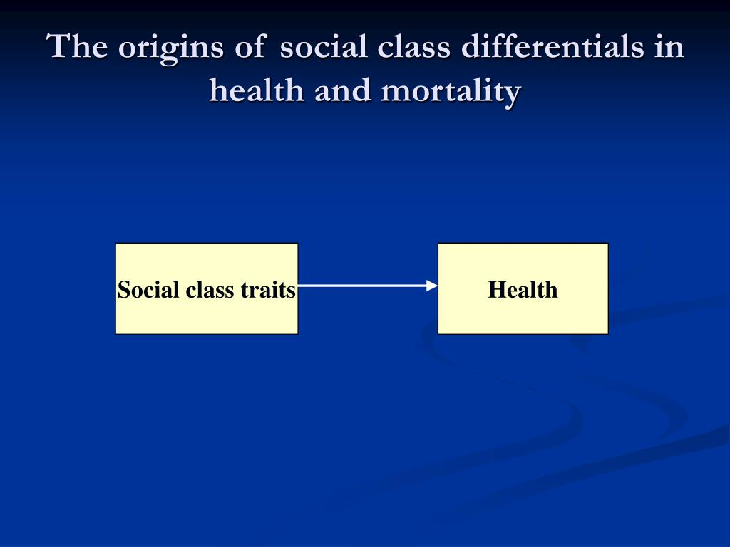 The origins of social class differentials in health and mortality