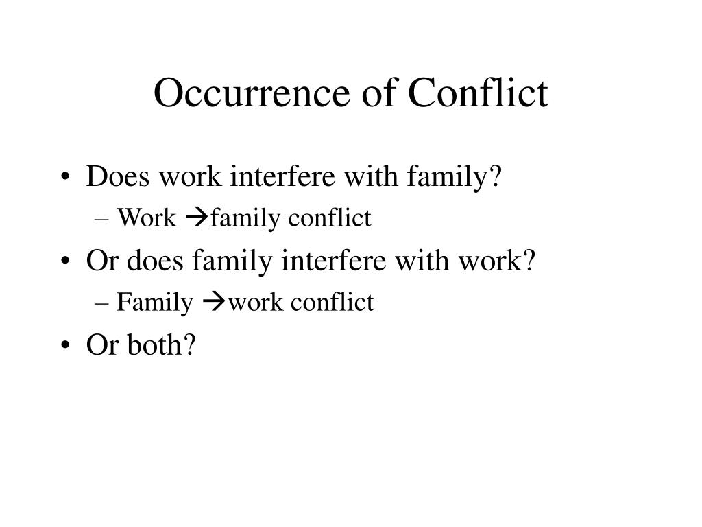 Occurrence of Conflict
