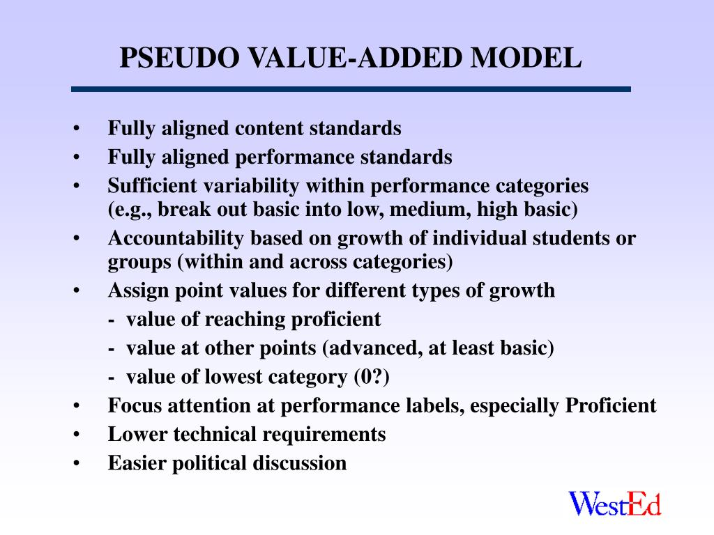 PSEUDO VALUE-ADDED MODEL