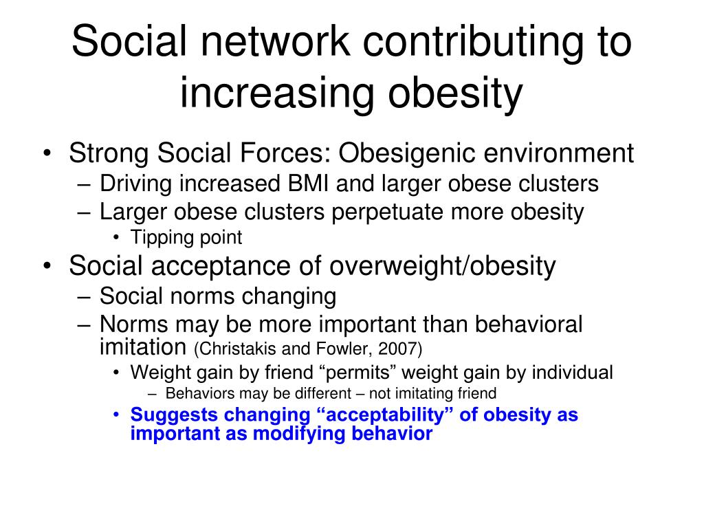 Social network contributing to increasing obesity