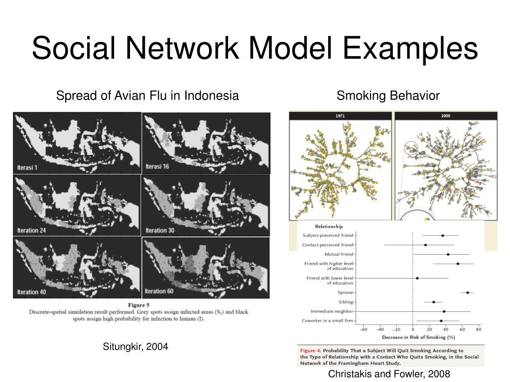 Social Network Model Examples