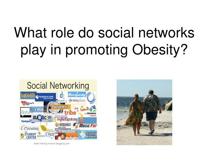 What role do social networks play in promoting obesity