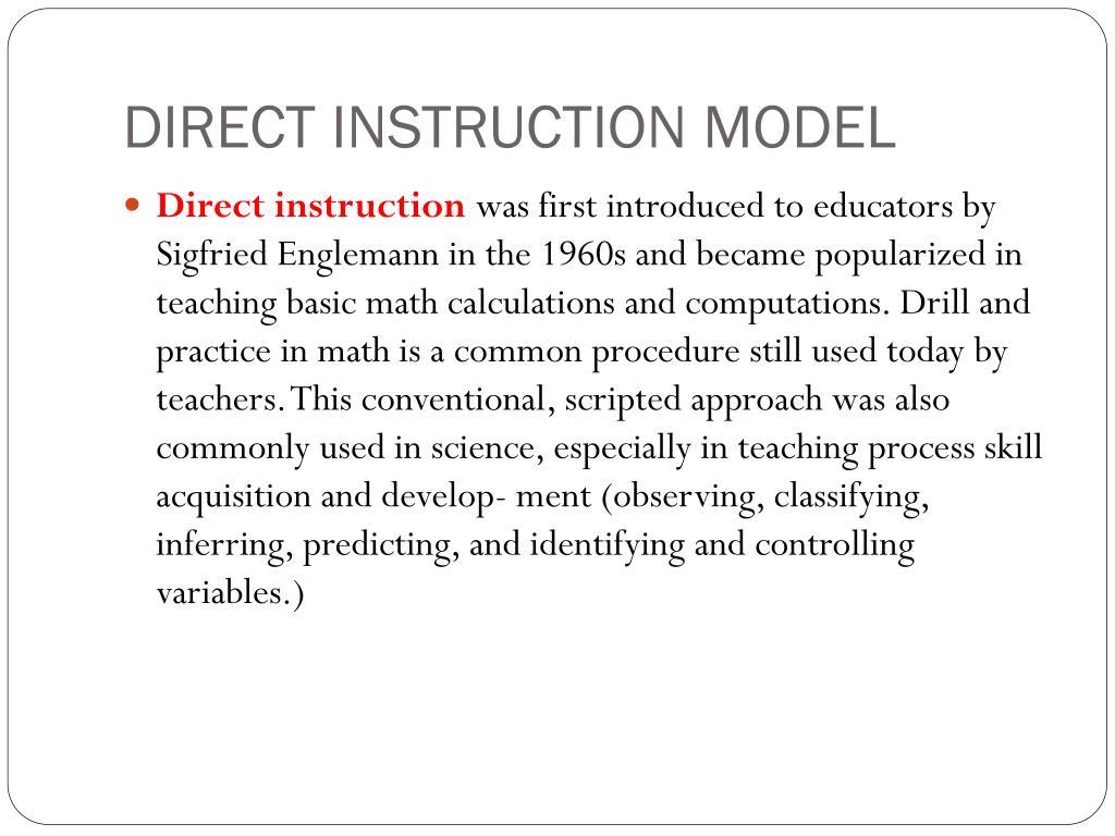 DIRECT INSTRUCTION MODEL