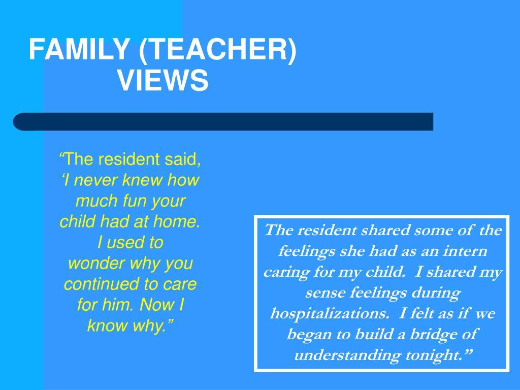 FAMILY (TEACHER)