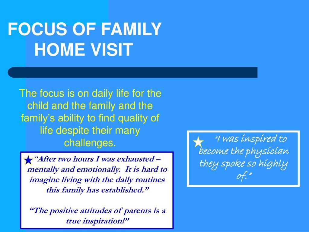 FOCUS OF FAMILY