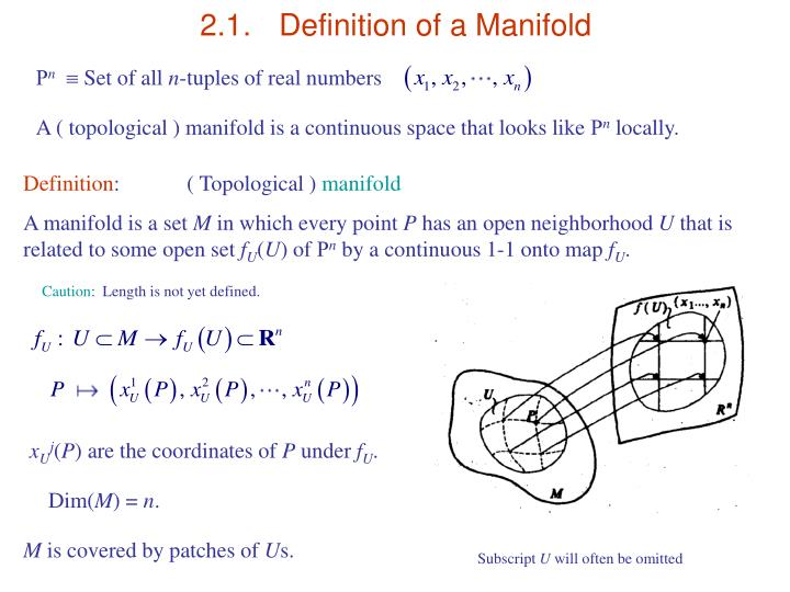 2 1 definition of a manifold