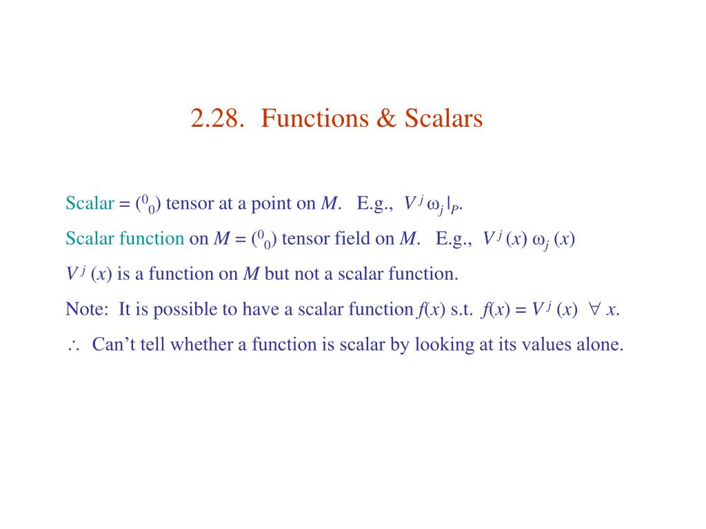 2.28.	Functions & Scalars