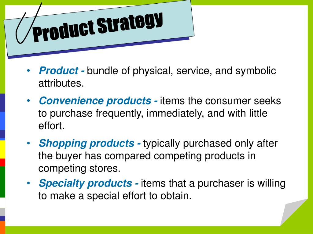 Product Strategy