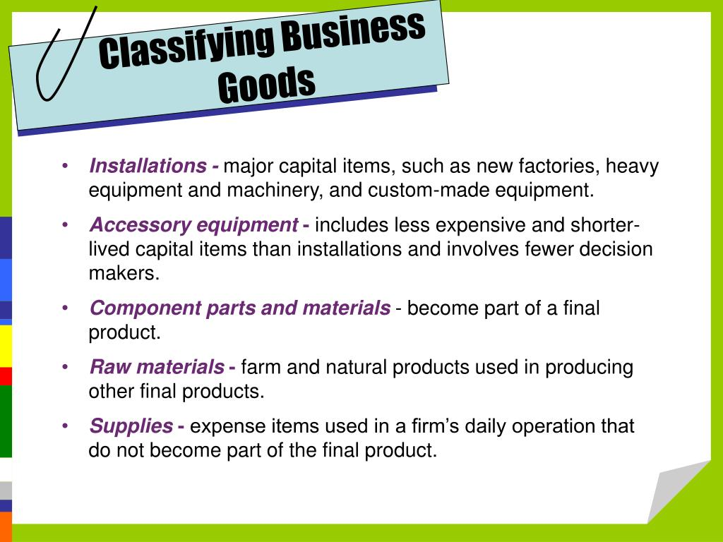 Classifying Business Goods