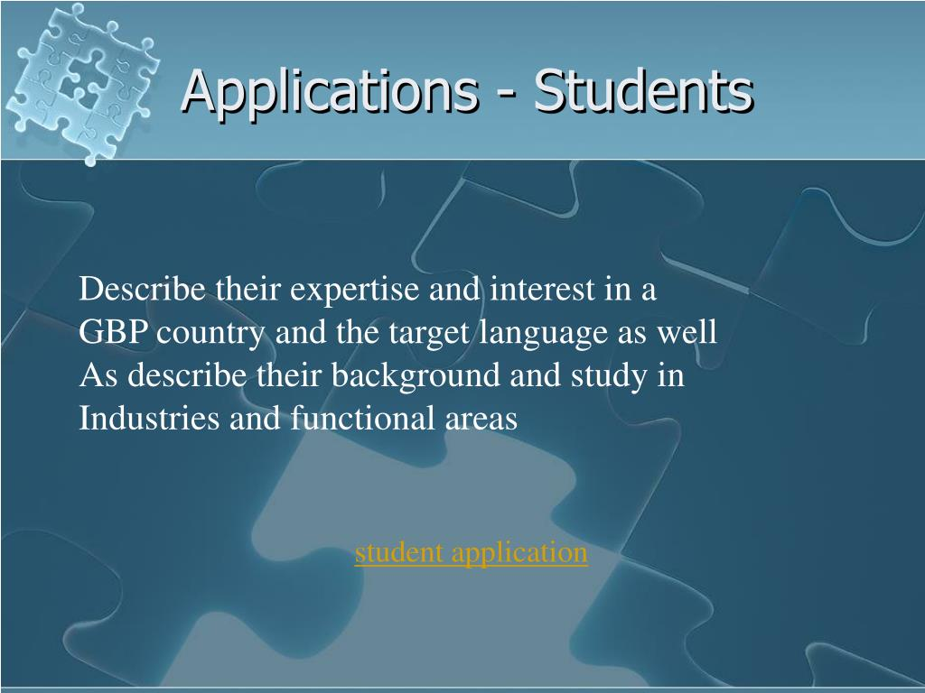 Applications - Students