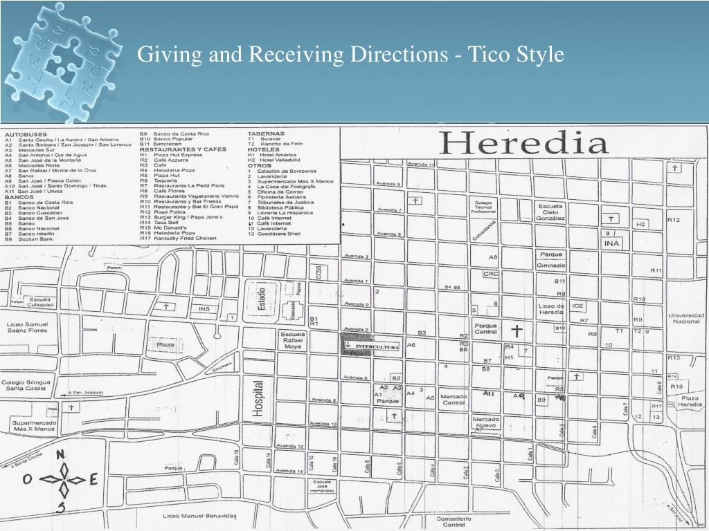 Giving and Receiving Directions - Tico Style