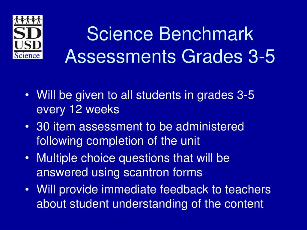 Science Benchmark Assessments Grades 3-5