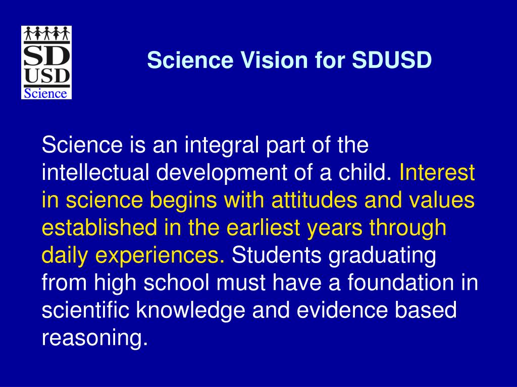 Science Vision for SDUSD