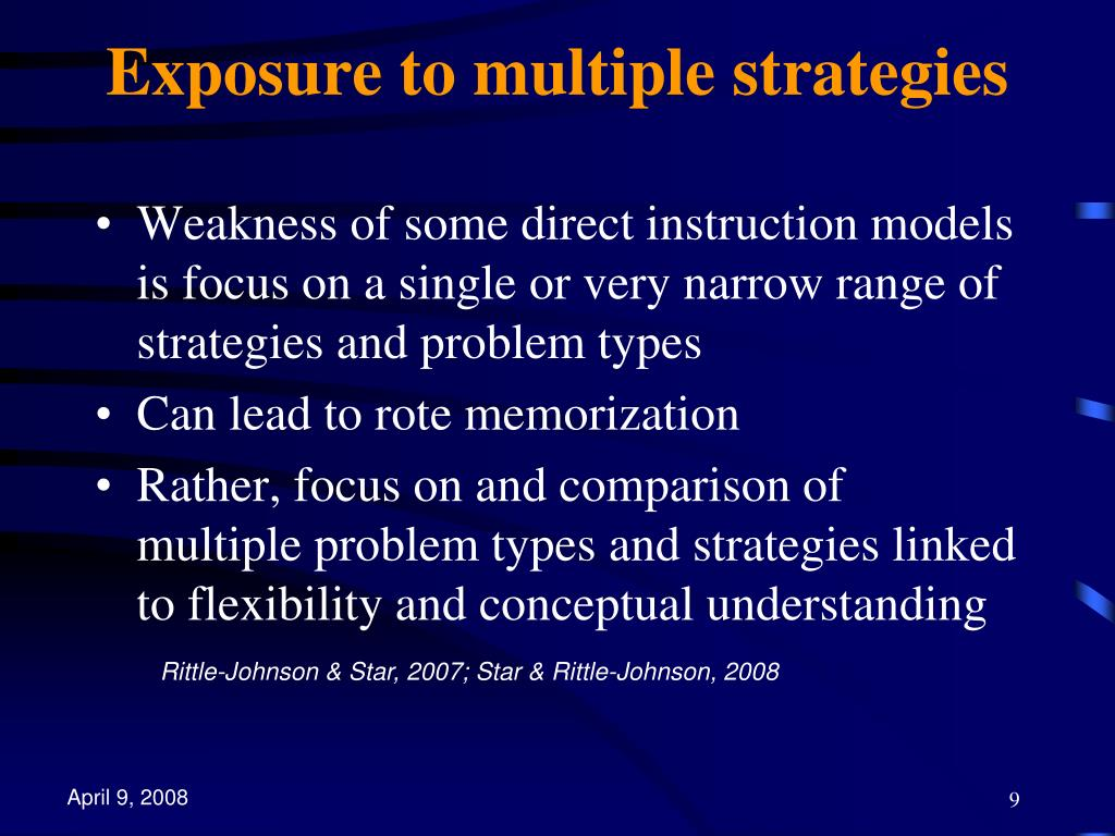 Exposure to multiple strategies