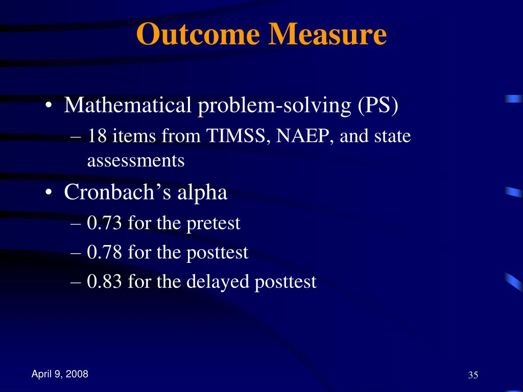 Outcome Measure